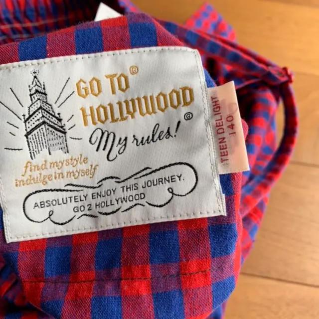 GO TO HOLLYWOOD(ゴートゥーハリウッド)のgotohollywoodチェックオールインワン140cm キッズ/ベビー/マタニティのキッズ服女の子用(90cm~)(パンツ/スパッツ)の商品写真