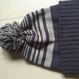 コムサイズム(COMME CA ISM)のコムサ ボーダーニット帽(ニット帽/ビーニー)