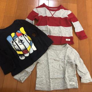 ギャップ(GAP)のGAP ロンT 3枚セット 70(Tシャツ)