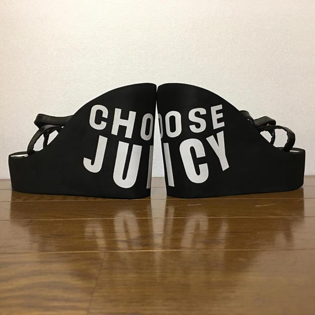 Juicy Couture(ジューシークチュール)のCHOOSE JUICY★厚底サンダル★小さいサイズ★黒 レディースの靴/シューズ(サンダル)の商品写真