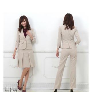 アオヤマ(青山)の特別セール 新品 レディーススーツ3点セット 15号 ベージュ(スーツ)