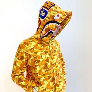 A BATHING APE - BAPE PUBG  HOODIE パーカー  オレンジ M