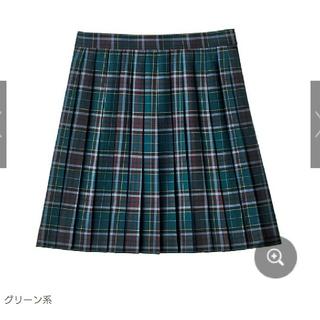 セシール(cecile)のスクールスカート チェック[グリーン系](ミニスカート)