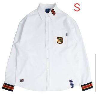 ボウダンショウネンダン(防弾少年団(BTS))のROMANTIC CROWN Striped Cuffs Shirt_White(シャツ)