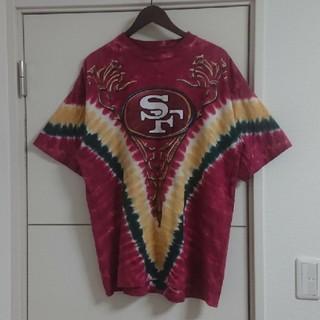 タイダイTシャツ NFLアメフト 49ers USA古着 ビッグシルエット