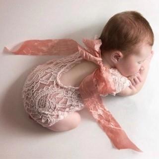 新生児👶レースロンパース