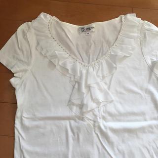 ミッシェルクラン(MICHEL KLEIN)のMK ビジネス用トップス 白T(Tシャツ(半袖/袖なし))