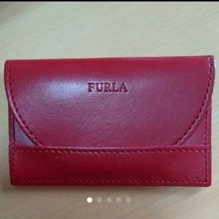 フルラ(Furla)の◇フルラ◇ カードケース(赤)(名刺入れ/定期入れ)