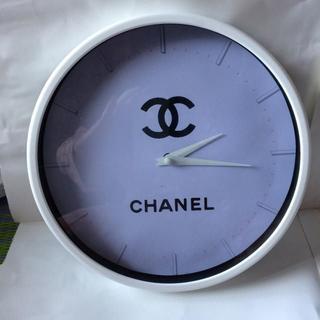 CHANEL - 1コのみ 新品 CHNEL ノベルティーシンプル掛け時計 大