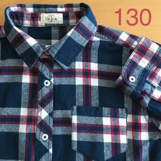 イッカ(ikka)のikka  ネルシャツ   130(Tシャツ/カットソー)