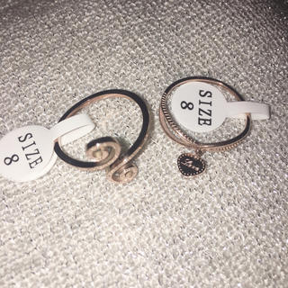 natural ring  heart charm ring  セット(リング(指輪))