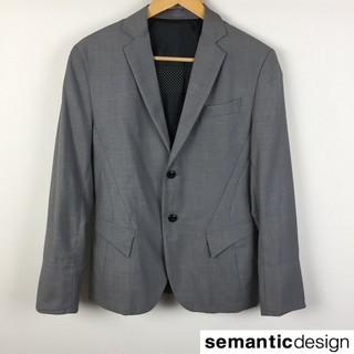 セマンティックデザイン(semantic design)の美品 セマンティックデザイン 長袖テーラードジャケット グレー サイズM(テーラードジャケット)