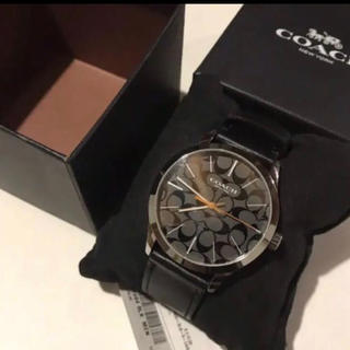 コーチ(COACH)の新品 コーチ 時計 COACH W1584 BLK黒メンズ腕時計ウォッチブラック(腕時計(アナログ))