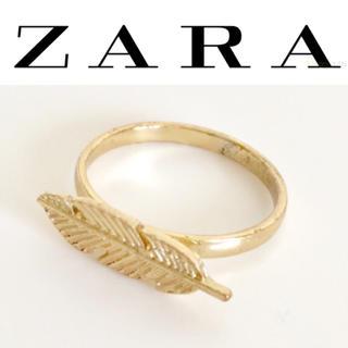ZARA - 【未使用】ZARA☆指輪☆ゴールド☆フェザー