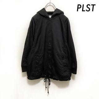 プラステ(PLST)のPLST プラステ★フード付き ブルゾン ラグランスリーブ ブラック 黒 (ブルゾン)