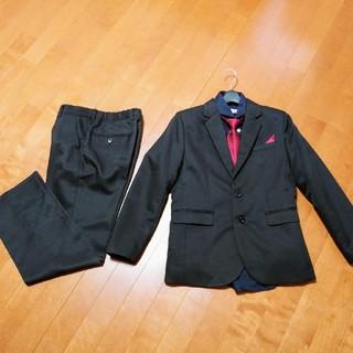 150 男の子 スーツ 卒業式 1回着用 美品 黒