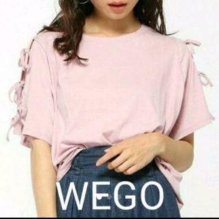 WEGO - 未使用タグ付き WEGO リボンスリーブ Tシャツ L パープル