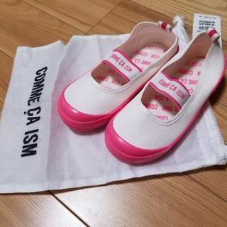 コムサイズム(COMME CA ISM)の新品★コムサイズム ピンク上靴17cm(スクールシューズ/上履き)