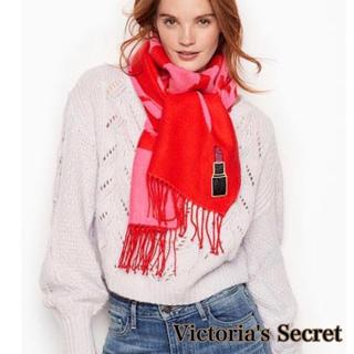 ヴィクトリアズシークレット(Victoria's Secret)のヴィクトリア シークレット 暖かい長い ストール マフラー レッドピンク リップ(マフラー/ショール)
