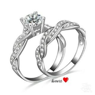 送料無料 15号 シルバー プラチナ加工 スーパーCZダイヤ リング 指輪(リング(指輪))