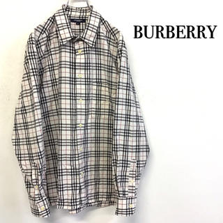 BURBERRY - 【美品 Burberry ノヴァチェックシャツ 刺繍ロゴ 】