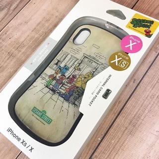セサミストリート(SESAME STREET)のセサミ iPhoneX/Xs 兼用 ハイブリッドガラスケース(iPhoneケース)