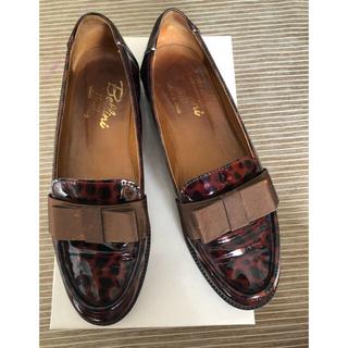 ディエゴベリーニ(DIEGO BELLINI)のBellini✨レオパード エナメル シューズ(ローファー/革靴)
