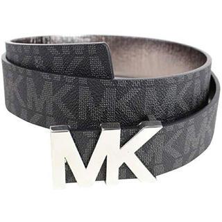 Michael Kors - 新品 ハイブランド マイケルコース MK ロゴ 銀 ブラック モノグラム ベルト