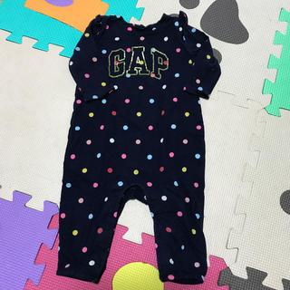 ベビーギャップ(babyGAP)のbaby GAP ドットフリルロンパース(ロンパース)
