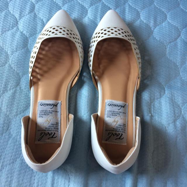 パンチング フラットパンプス レディースの靴/シューズ(ハイヒール/パンプス)の商品写真