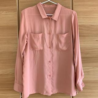 アーバンリサーチ(URBAN RESEARCH)のレディース くすみピンクシャツ(シャツ/ブラウス(長袖/七分))