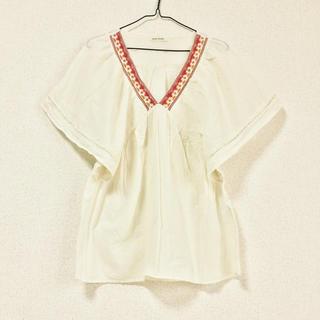 刺繍入りコットンブラウス(シャツ/ブラウス(半袖/袖なし))
