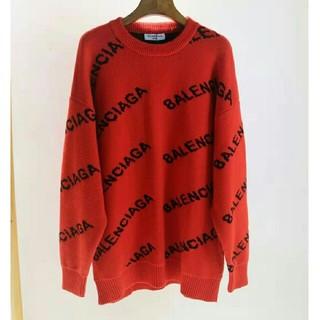 バレンシアガ(Balenciaga)のバレンシアガBALENCIAGA セーター レッド(ニット/セーター)