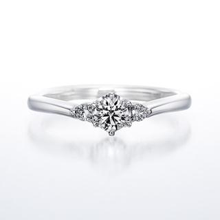 ヨンドシー(4℃)のダイヤモンドシライシ プラチナ リング(リング(指輪))