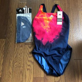 adidas - 競泳水着 (L)  帽子(M) セット