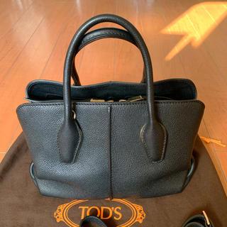 TOD'S - トッズ Tod's Dバッグ ブラック 黒 ショルダーストラップ付き