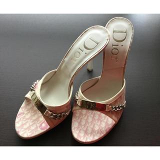 クリスチャンディオール(Christian Dior)のChristian Dior ディオール サンダル ミュール 美品(ミュール)