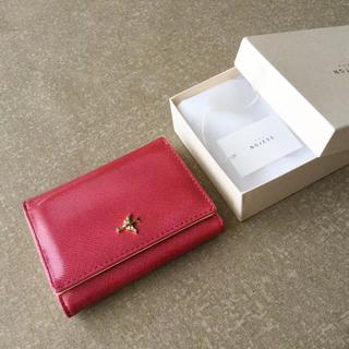 NOJESS - 【美品】ノジェス 三つ折りラムレザー ミニウォレット ミニ財布