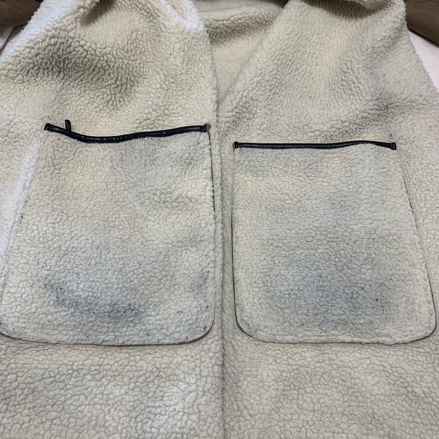 BABYLONE(バビロン)のbabylone リバーシブルボアロングコート オフホワイト 36 レディースのジャケット/アウター(ロングコート)の商品写真