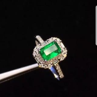 Vivid Green♡天然エメラルドダイヤモンドリング(リング(指輪))