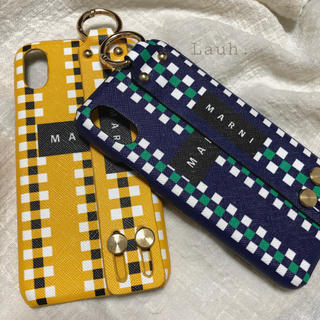 Apple - a31.marni logo smartphone case(yellow)