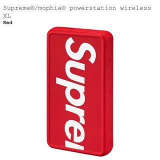 シュプリーム(Supreme)の新品Supreme mophie powerstation XL レッド(バッテリー/充電器)
