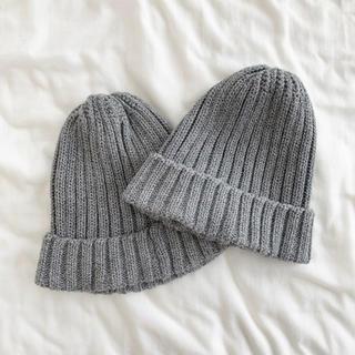 GU - GU キッズサイズ ニット帽 グレー 2個セット