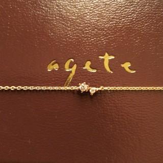 agete - K18 アガット ダイヤモンドブレスレット