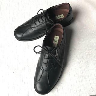 天然皮革 スニーカー 日本製 ブラック  22.5㎝(ローファー/革靴)