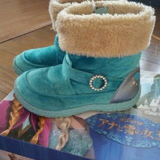 Disney - アナと雪の女王 ブーツ ボア ムーンスター