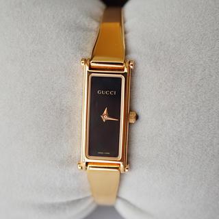 Gucci - GUCCI 腕時計 1500L ゴールド×ブラック