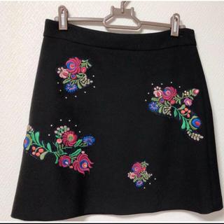 ZARA - 人気完売品 ZARA刺繍スカート