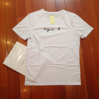 agnes b. - agnesb. 定番L白アニエス・ベー半袖Tシャツ