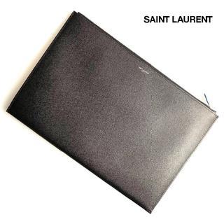 サンローラン(Saint Laurent)の★新品★正規店購入★サンローラン クラッチバッグ ブラック レザー(セカンドバッグ/クラッチバッグ)